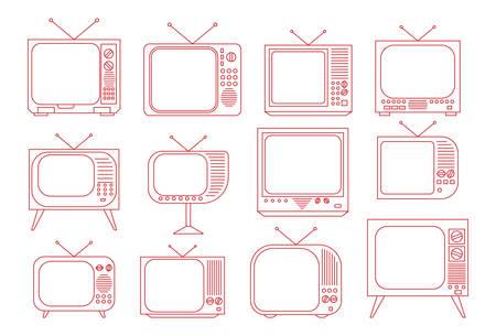 tv set: Vector illustration of the vintage TV set Illustration