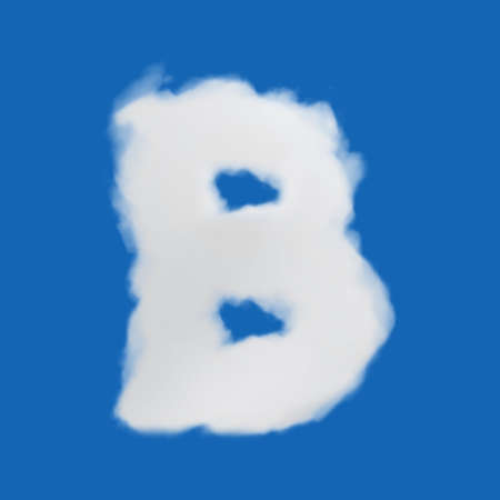 b days: 3D rendering of the cloud letter