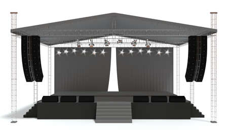 stage: 3D rendering of the stage