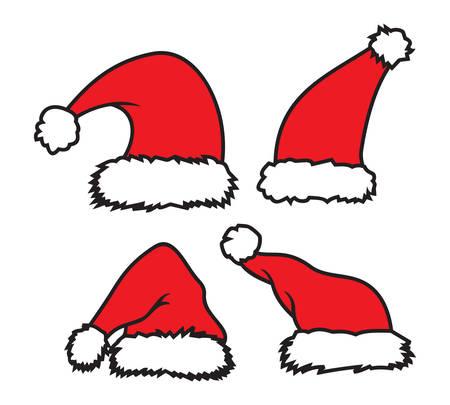 サンタ クロースの帽子のベクトル イラスト