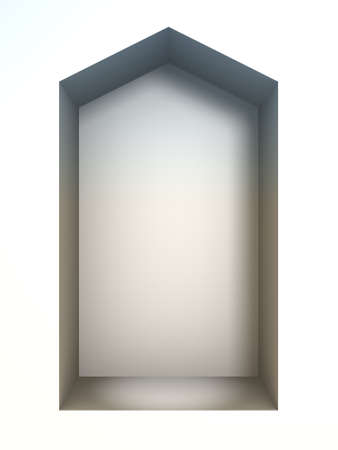 niche: 3D rendering of the wall niche