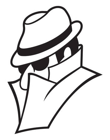 spying: Vector illustration of the spy