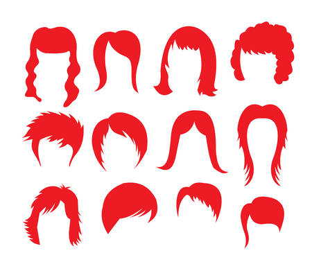 Vecror illustrations of the big hairstyle collection Vector