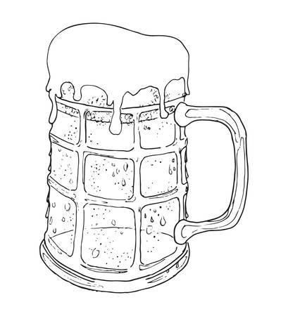 beer foam: Vector illustrations of the beer mug