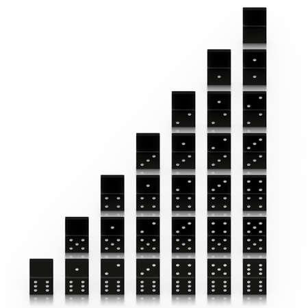 rendering: 3D rendering of the dominoes Stock Photo