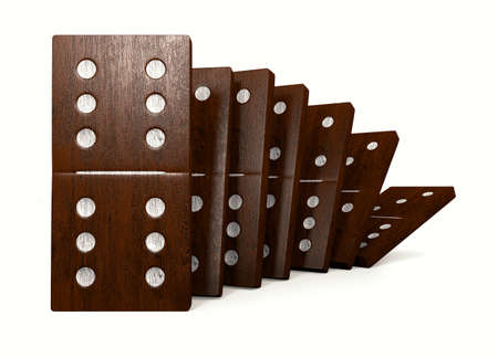 symbolics: 3D rendering of the dominoes Stock Photo