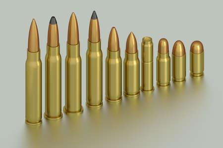 rendering: 3D rendering of bullets