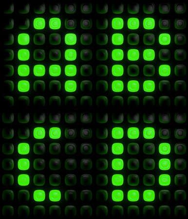 d data: Illustration of the green digital letters