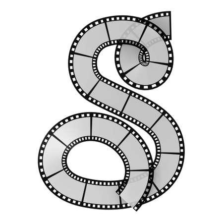 aluminium  design: Illustration of the film strip alphabet letter