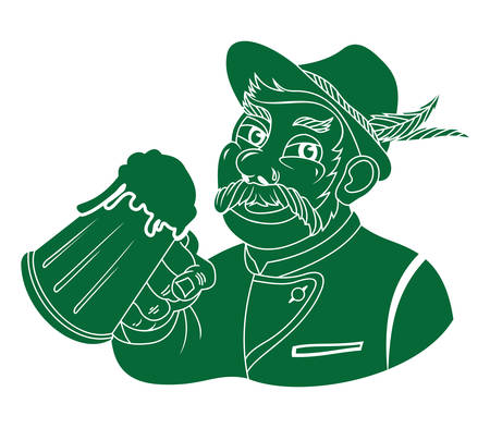 beerfest: illustration of the Oktoberfest sign