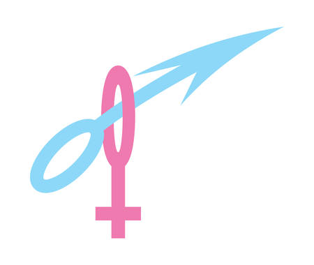 heterosexual: Vector illustrations of the gender sign Illustration
