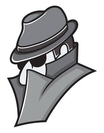illustratie van de spion