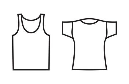 nightwear: Vector illustrations of the underwear