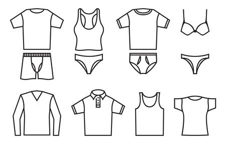 Vector illustrations of the underwear