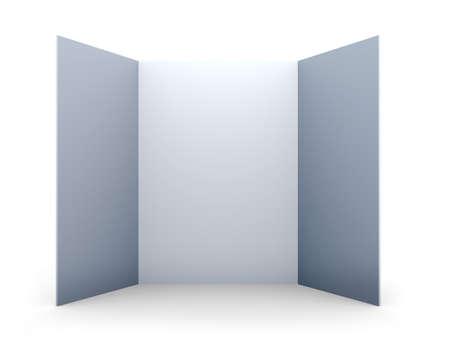 folded paper: blank folded paper leaflet
