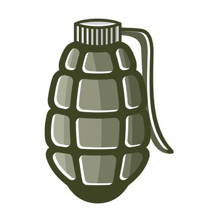 shrapnel: Vector illustrations of the bomb
