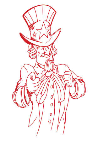 sam: Vector illustration of the Uncle Sam