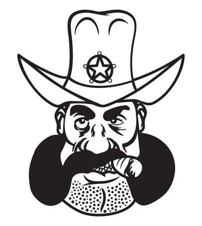 Vector illustration of the sheriff Illustration