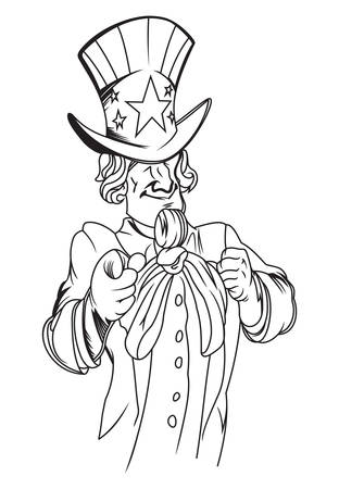 sam: Vector illustration of the Uncle Sam