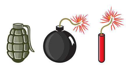 detonator: Vector illustrations of the dynamite
