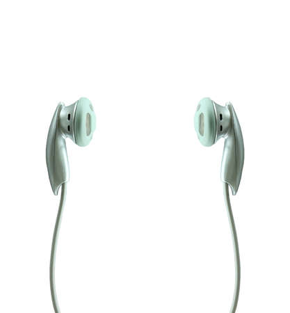 stereo cut: 3D rendering of the Headphones Stock Photo