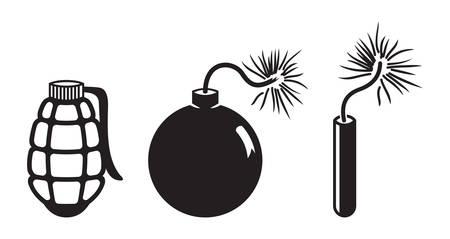 dinamita: Ilustraciones del vector de la dinamita