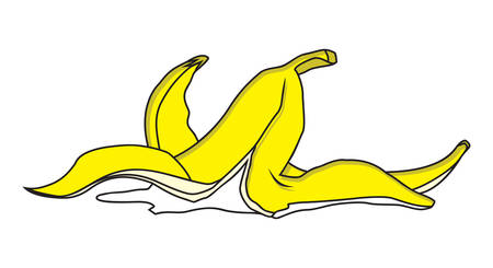 banana peel: Vector illustration of banana