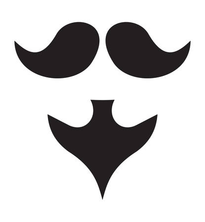 mustached: Vector illustration of the beard and moustache