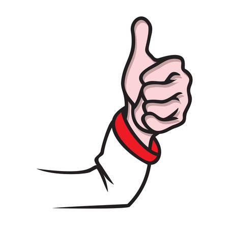 confirmed: Vector illustration of the finger up