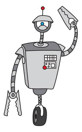 cybernetics: illustration of the robot