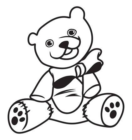cute animal: illustration of the Teddy bear