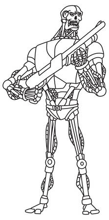 cybernetics: Vector illustration of the robot