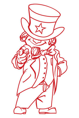 uncle: Vector illustration of the Uncle Sam