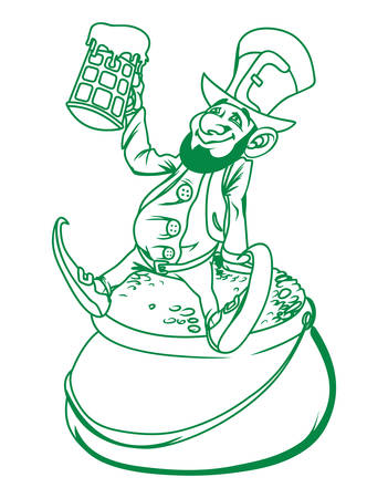 patron saint of ireland: Vector illustration of the St Patricks day symbol
