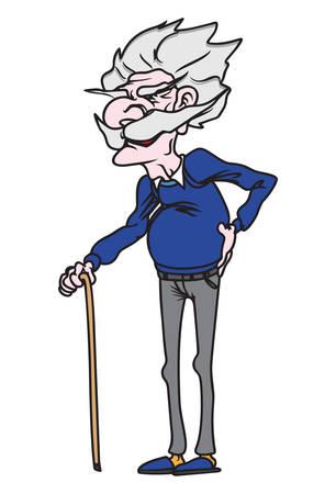 hombre viejo: Ilustraciones del vector del abuelo