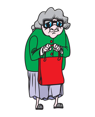 grannies: Vector illustrations of the grandmother