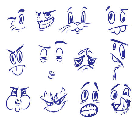 face expressions: Vector illustrations of the face expressions