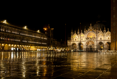 a long exposure of Piazza San Marco in Venice