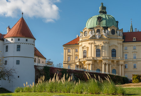 Abbey of Klosterneuburg monastery on a sunny day blue sky Stock Photo