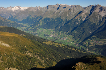 Virgental in Osttirol Austria on a sunny morning in summer