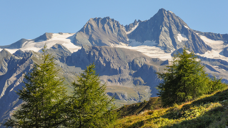 The Groࢠglockner in the center of the Hohe Tauern National Park