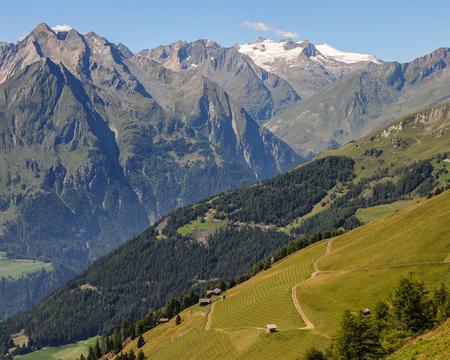 Some mountains of the austrian alps (Hohe Tauern, Venedigergruppe) Stock Photo