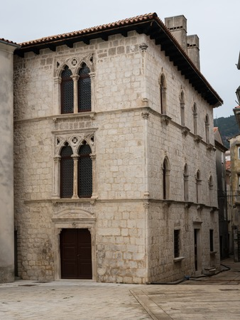 Venetian house in the old, historic center of Cres, Croatia
