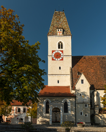 Church of Spitz an der Donau on a sunny day in autumn (Wachau, Lower Austria)