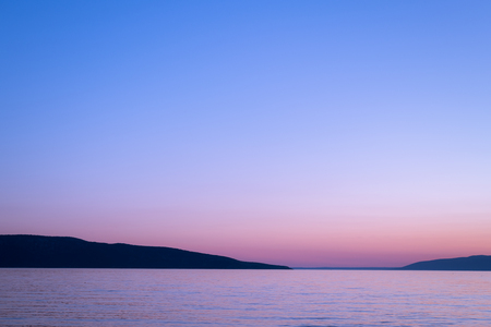 Sea and sky after sunset on the island of Cres (Croatia) Banque d'images