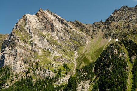 Jennwand near Laas on a sunny day in summer Stock fotó