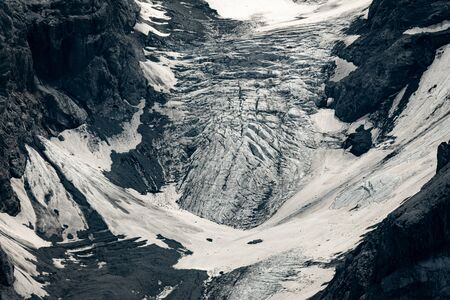 Closeup of the glacier of the Ortler mountains in South Tyrol (Italy) Фото со стока