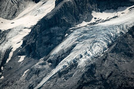 Closeup of the glacier of the Ortler mountains in South Tyrol (Italy) Reklamní fotografie