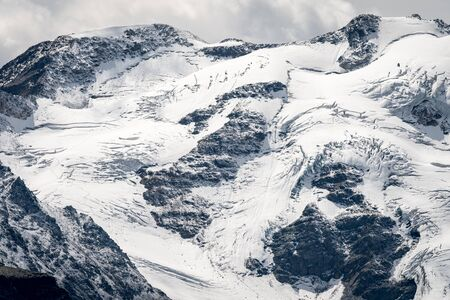Closeup of the glacier of the Ortler mountains in South Tyrol (Italy) Stock fotó