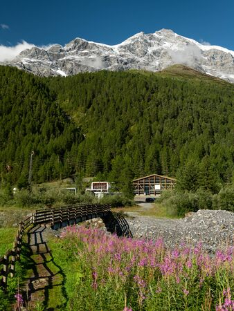 The Ortler Alps near Sulden (South Tyrol, Italy) on a sunny day in summer Stock fotó